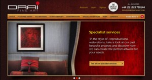 web design kent - Drai Fine Art