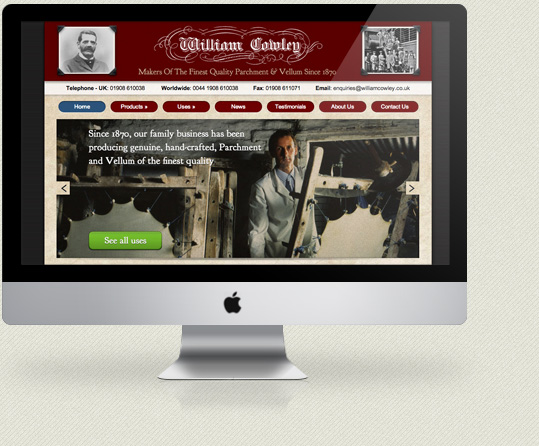 kc web design kent - William Cowley Parchment