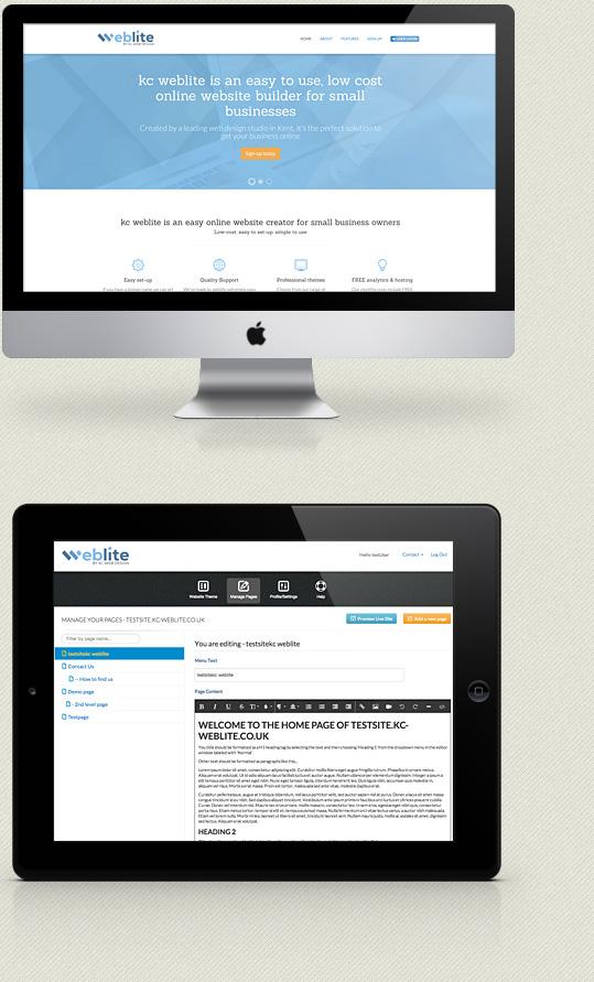 Kc Web Design Kent Weblite Online Website Builder For Small Businesses